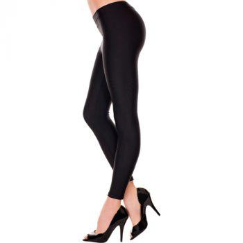 Basic Lange Legging - Zwart|