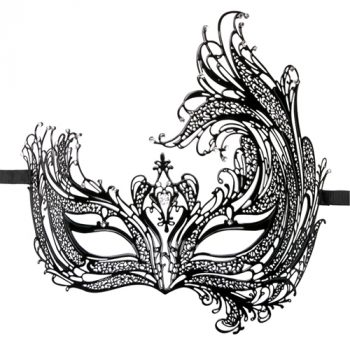 Easytoys Open Venetiaans Masker - Zwart|