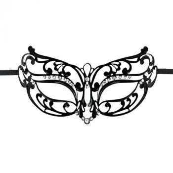Easytoys Opengewerkt Masker Metaal - Zwart|