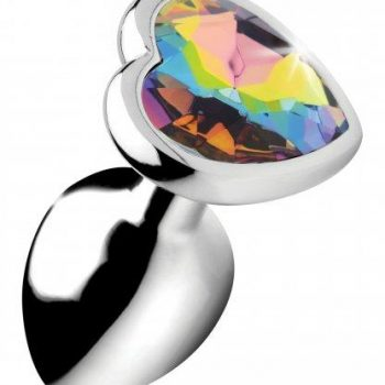 Rainbow Heart Buttplug - Klein|