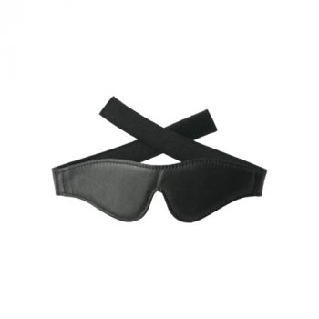 Strict Leather Velcro Blindfold|