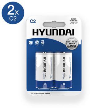 Super Alkaline C-Batterijen - 2 Stuks|