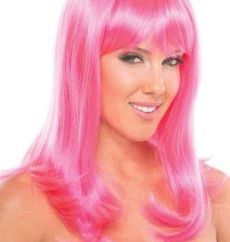 Hollywood Pruik - Roze|