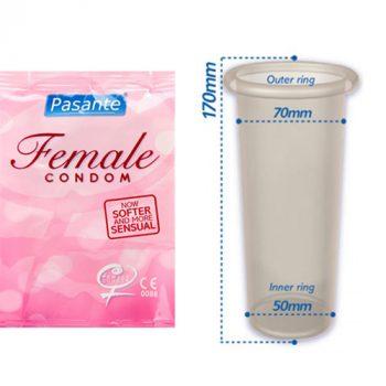 Pasante Vrouwen Condoom - 3 stuks|